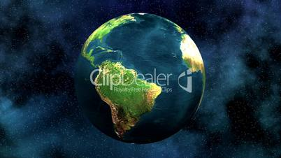 Rotierende Weltkugel