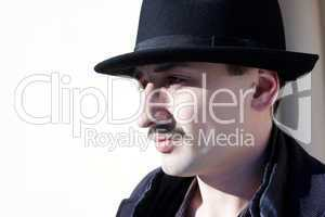 Portrait of stylish man in hat