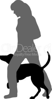 Hundetraining (Agility, obedience): Befehl: Durchlaufen