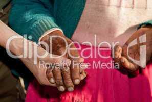 Hände einer Bäuerin, Lateinamerika