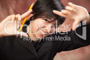 Multiethnic Girl Poses for Portrait