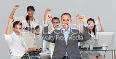 Successful multi-ethnic business partners