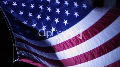 American Flag at Night