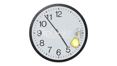 Exploding Clock Time Lapse