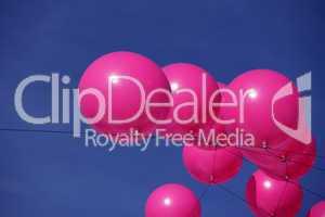 Rosarote Luftballons