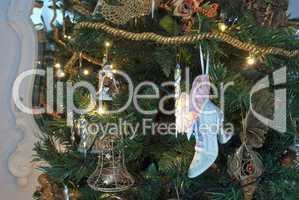 Christmas Decorations, Tuscany, Italy