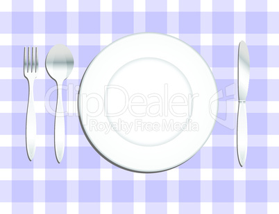 Kitchen Utensils and porcelain plate