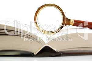 Magnifier and the book