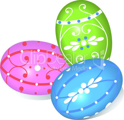 Farbige Ostereier - Colored Easter Eggs