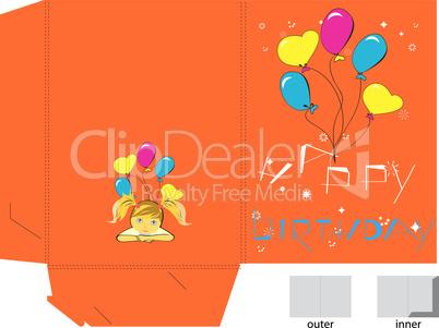 Gift folder for birthday