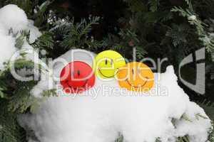 Smilies im Schnee