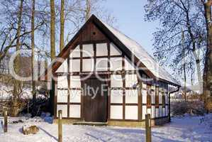 Gellenbecker Mühle im Winter, Hagen a.T.W., Osnabrücker Land, Niedersachsen - Gellenbecker mill in winter, Hagen a.T.W., Osnabruecker land, Lower Saxony, Germany