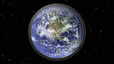 Earth Clock Time Lapse