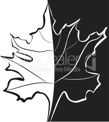 Black and white template for decorative card
