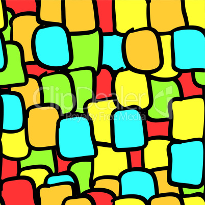 Multicolor tiles abstract seamless background