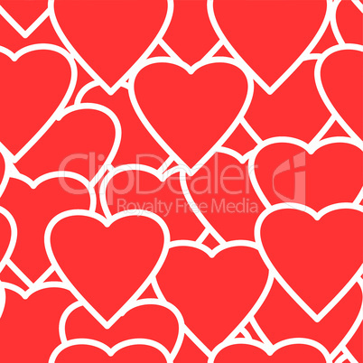 Valentine's day abstract seamless background