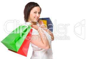 Junge Frauen Einkaufstaschen