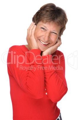 Glückliche und aktive Seniorin