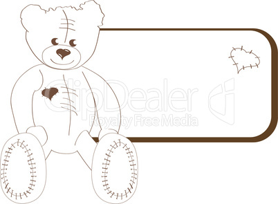 Teddy bear with frame