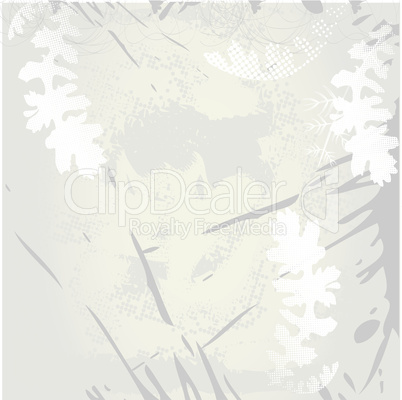 Background with ink spots and poppy leaves