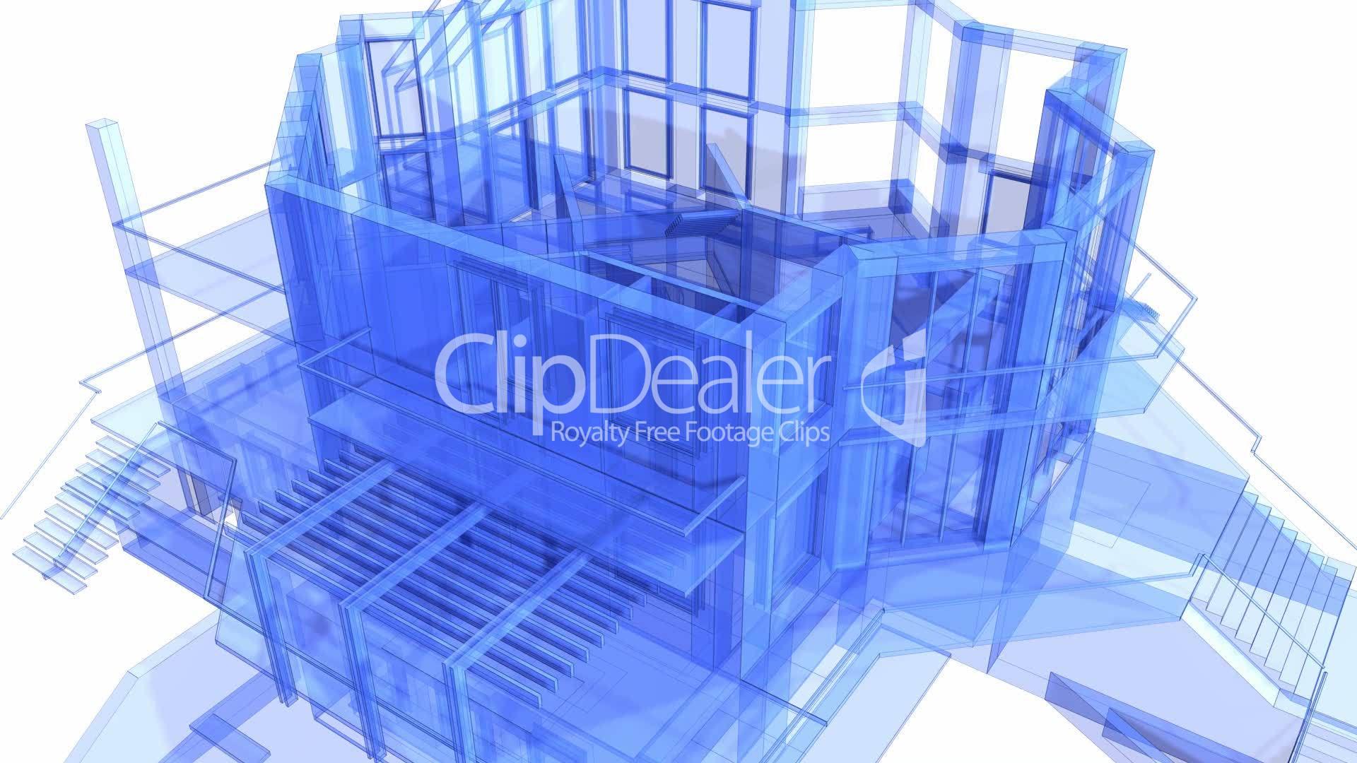 3d architecture blueprint of the house vdeos de archivo y clips clips secuencia libres de derechos 3d architecture blueprint malvernweather Image collections