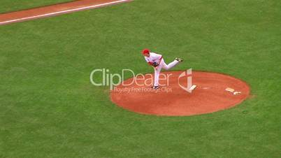 Pitcher Delivers Ball 03