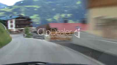 time lapse highspeed downhill drive alps