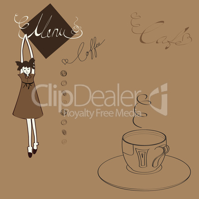Menu for cafe