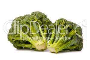 Fresh broccoli isolated over the white background