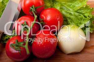 tomato and salad