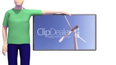Animation Windenergie