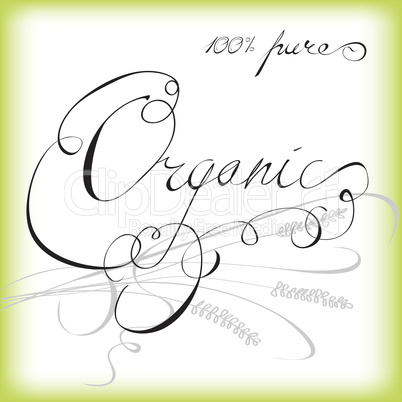 Organic - label or sticker for products