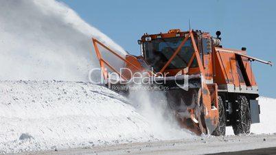 Mountain snow blower