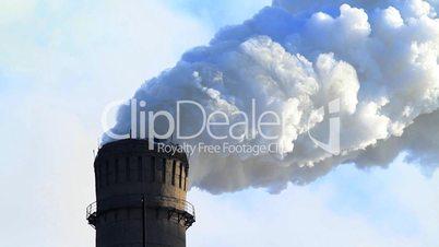 Industrial smokestack.