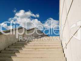 beton Treppe nach oben