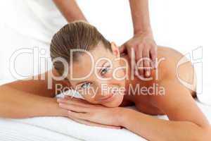 Portrait of woman having a massage