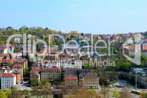 Residential area in Stuttgart city center, Panoramic view