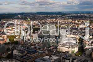 Frankfurt city centre birdfly view