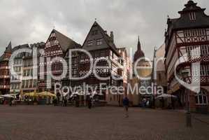 Market square in Frankfurt old town