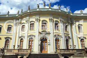 Entrance to royal palace close-up. Ludwigsburg, South Germany