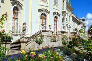 Entrance to royal palace -  side view. Ludwigsburg, South German