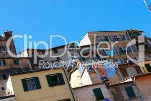 Facade of residential house, Italy