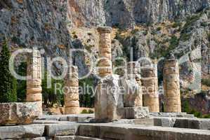 The temple of Apollo in Delphi. Greece