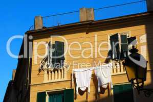 Italian feature - drying laundry