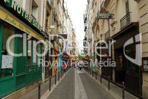 Street of Latin Quarter (Quartier latin) in Paris