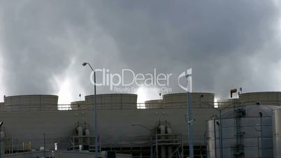Pollution from power plant time lapse