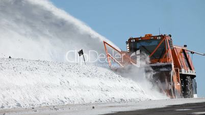 Snow blower mountain road