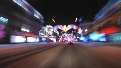 Night time motion blur.