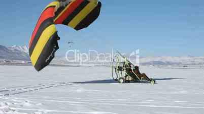 Winter takeoff power parachute dual