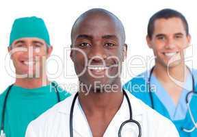 Portrait of three male doctors